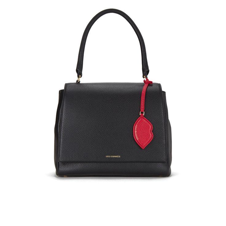 Lulu Guinness Women\u0027s Rita Large Grab Tote Bag - Black