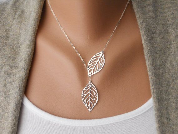 Leaf Lariat by morganprather on Etsy, $23.00Antiques Silver, Sterling Silver, Jewelry,  Bandeau, Leaves, Leaf Necklaces, Christmas Gift,  Bra, Vintage Style
