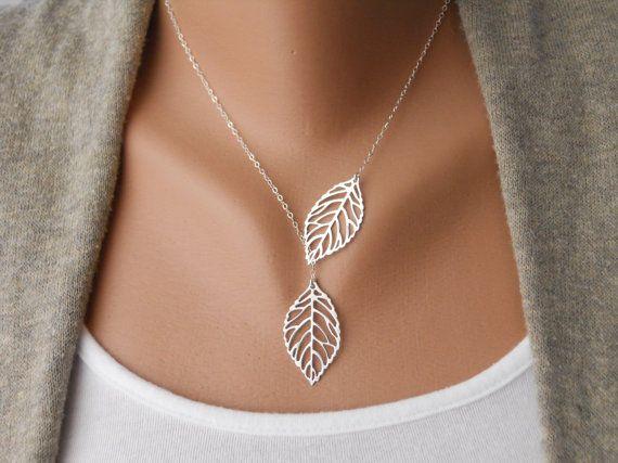Leaf Lariat by morganprather on Etsy, $23.00