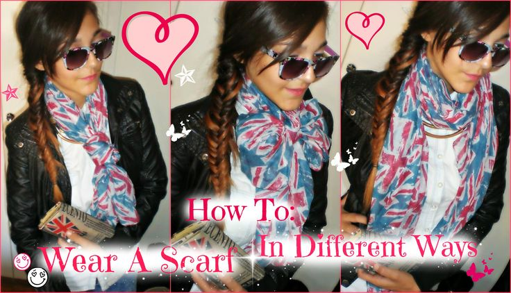 How to : Wear a scarf in different ways <3 Check out our Youtube channel <3 https://www.youtube.com/channel/UC23VnLLT--eORh8oFGPEiJg