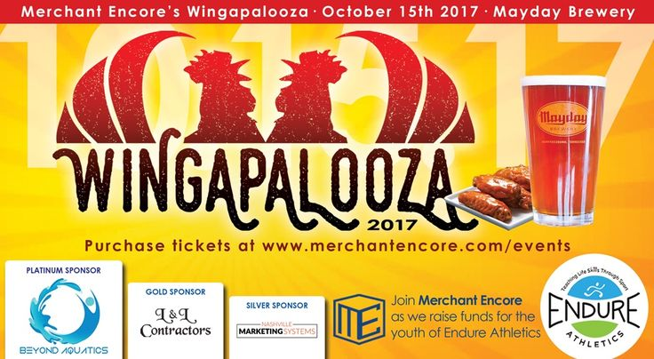 Get your tickets now! https://merchantencore.yapsody.com/event/index/132196/merchant-encores-wingapalooza-2017?utm_campaign=crowdfire&utm_content=crowdfire&utm_medium=social&utm_source=pinterest #beer #wings #local #murfreesboro #summer #fun #community #kids #fundraiser