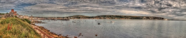 Swanage Bay from Peveril Point | PURBECKARTSTORE.com