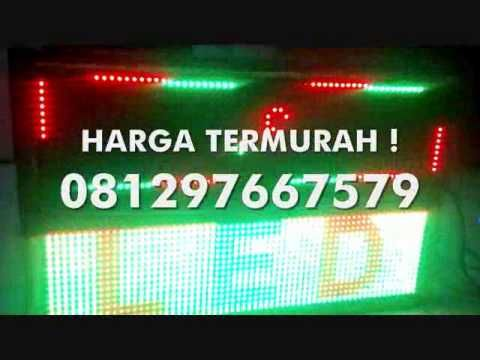 Jual RUNNING TEXT MOVING SIGN TRI COLOUR RED GREEN YELLOW MURAH