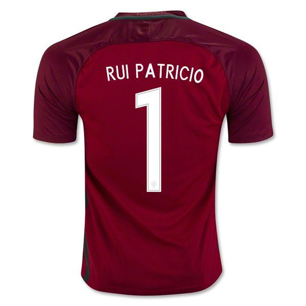 Rui Patricio 1 2018 World Cup Portugal Home Soccer Jersey