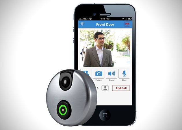 front door cameras have been around for ages but a wifi enabled doorbell