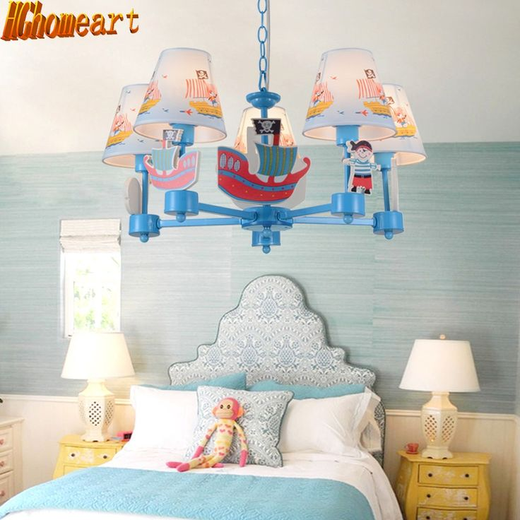 169.58$  Know more  - Fashion personality eye protection cartoon lamps LED lights children bedroom creative cartoon chandeliers