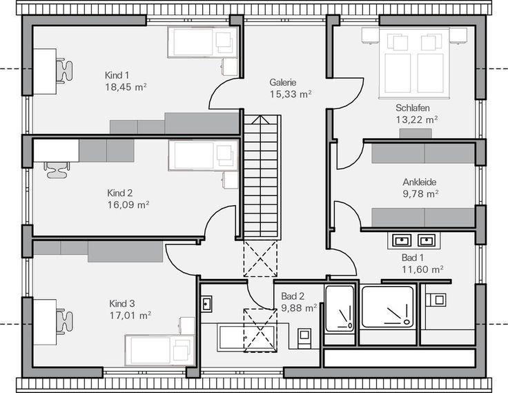 die besten 25 grundriss einfamilienhaus ideen auf pinterest moderne hauspl ne haustypen und. Black Bedroom Furniture Sets. Home Design Ideas