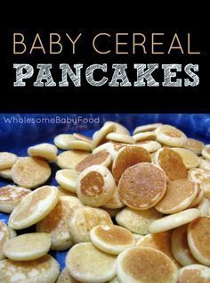 This baby cereal pancake recipe is a great way to use up any leftover baby cereal! These make a great finger food for kiddos, too!