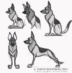 Concept Design Sketches - The Art of David Boudreau