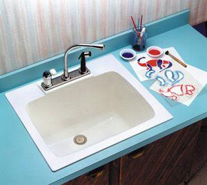 Utility Sink from Bid: Mustee Model 10 DURASTONE® Countertop Specialty Laundry/Utility Sink