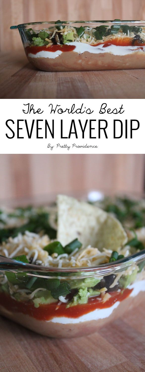 I can honestly say this is the best seven layer dip I've ever had! Quick, easy, and delicious it is sure to please any cook and any crowd! From MichaelsMakers Pretty Providence
