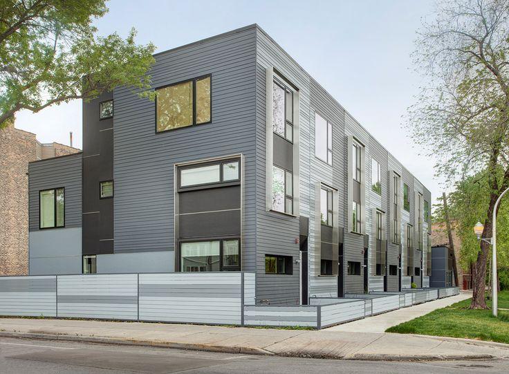 flexhouse eco friendly row homes in chicago architecture designresidential architecturearchitectschicagoapartments