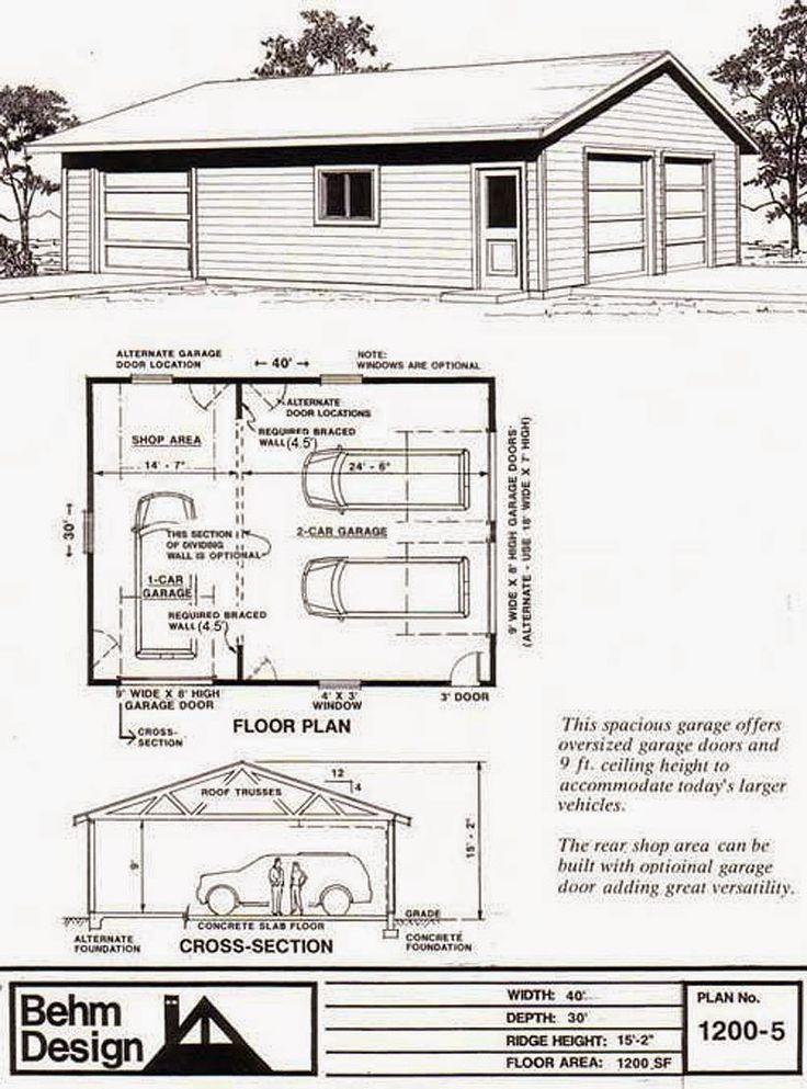 Dream Garage Floor Plans Images