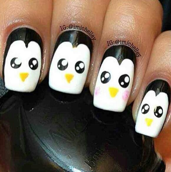 Penguin Nail Art Designs: Penguin Nails, Penguin Nail Art And Penguins On Pinterest