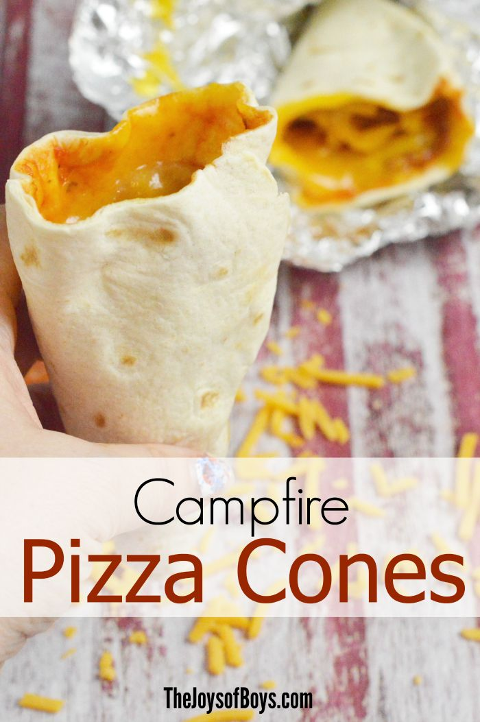 Who says you can't have pizza while camping? Make this campfire pizza cone recipe on your next camping trip!