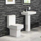 Belfort Close Coupled Toilet & Pedestal Basin Set