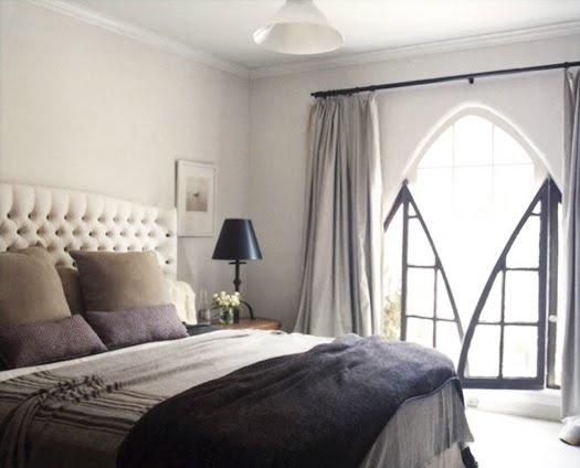 grey bedroom: Grey Bedrooms, Window, Bedrooms Design, Headboards, Modern Rooms, Interiors Design, Colors Schemes, Master Bedrooms, Beds Linens