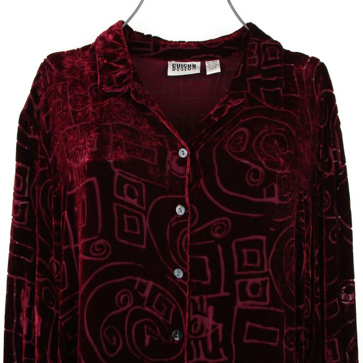 Womens XL Velvet Burnout Tunic Top Plus Size Chicos 3 Oversized Poet Shirt Boho #Chicos #Tunic #Casual