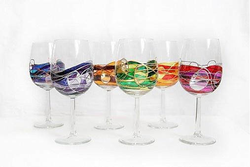 ...veselé farebné poháre... by vyvarose - SAShE.sk - Handmade Sklo