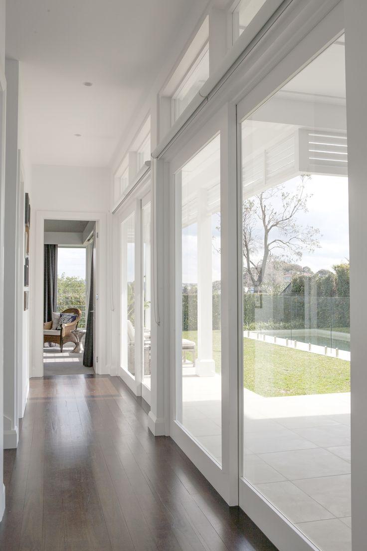 Closing in a carport to make guest suite - Bungan Headland Residence Hamptons Style Hall Breezeway Stritt Design Construction Www