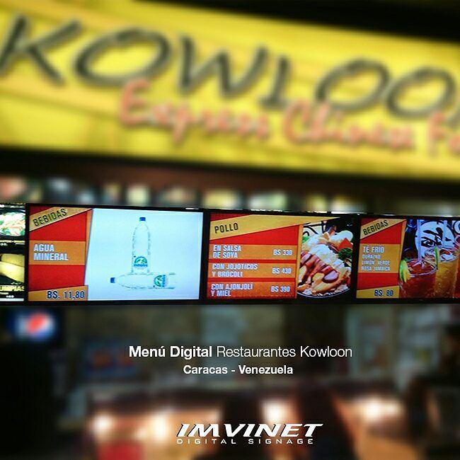 El sistema ACO de IMVINET es un software que permite a negocios como la cadena de restaurantes Kowloon mostrar sus productos a través de un Menú Dinámico que se reproduce en pantallas LED de altísima calidad con contenido 100% autogestionable y que puede ser modificado desde cualquier equipo con internet. Esto es #EVOLUCIÓN es #MenúDigital #HechoEnIMVINET #Marketing #Ventas #Retail #FastFood