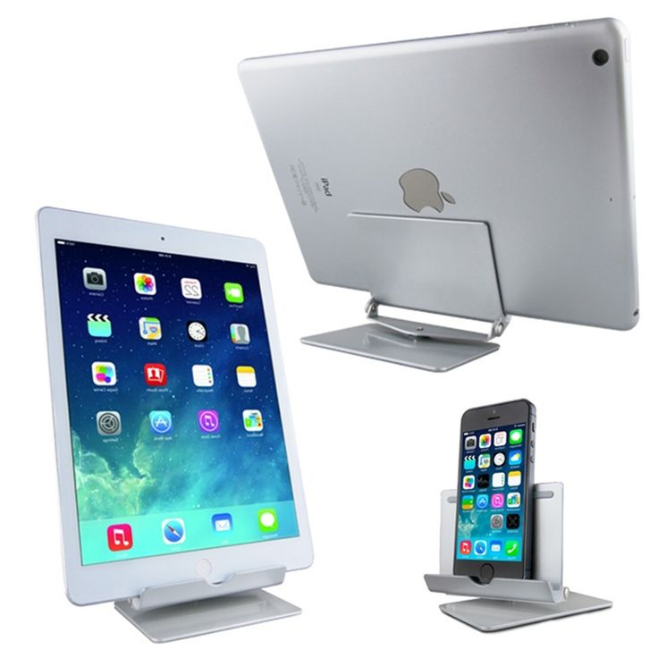 Universal Cell Phone Tablet Desk Stand Holder For iPad Mini For iPad 2 3 4 For iPad Air 2 Mini 360 Aluminium Metal Bracket Stand #shoes, #jewelry, #women, #men, #hats, #watches