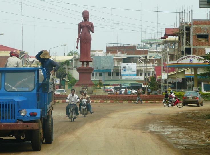 Entering the city, Sisophon Cambodia
