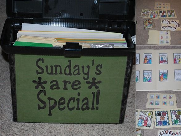 Sundays are Special Box--activities to keep us busy when church is over, or when we're waiting for it to start....love the link to printables.