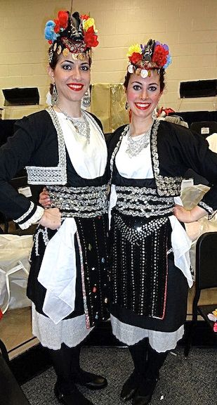 #Macedonian #traditional #clothes This #costume is the costume of the #married #women of Roumlouki, #Macedonia . It has many of the same #motifs as other Macedonian costumes , such as the #headpiece and the #silver #designs . One of the main differences is that a #black #jacket is worn. This jacket signifies the women's marital status since it is more #conservative than other similar costumes. #credit to #Hellenic #dancers of #newjersey #usa