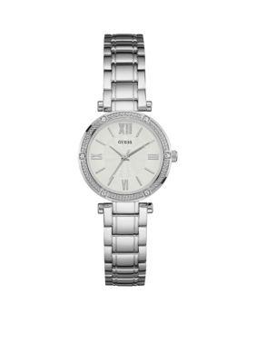 Guess Women's Women's Silver Petite Dress Watch - Silver - One Size