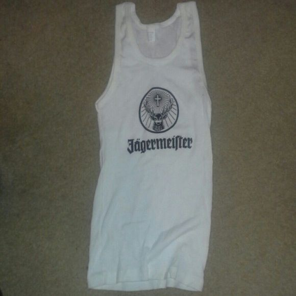 Jagermeister tank tops Jagermeister tank tops, very stretchy.  Never worn. Sizes M, XL available.  Price is $10 a piece. Make offer!! Tops Tank Tops