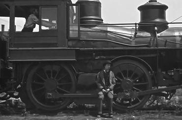 A heartbroken Buster Keaton in The General (1926)