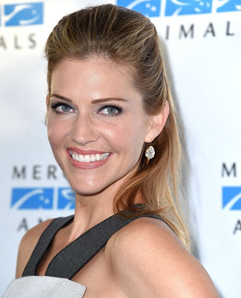 Tricia Helfer arrives at the Mercy For Animals Presents The Hidden Heroes Gala at Unici Casa on August 29 2015 in Culver City California