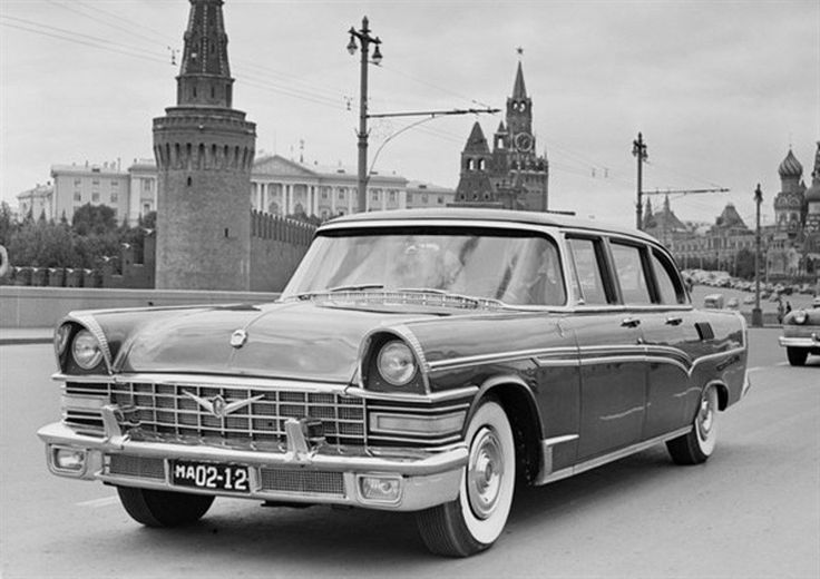 ЗИЛ-111 с правительственными номерами образца 1959 года.