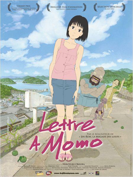 Le père de Momo, une fillette de onze ans, a disparu en mer. Elle quitte Tokyo pour s'installer avec sa mère sur une petite île où le temps semble s'être arrêté. Des phénomènes surprenants commencent à se produire... Bande-annonce : http://www.dailymotion.com/video/x11j34a_lettre-a-momo-bande-annonce-vo_shortfilms