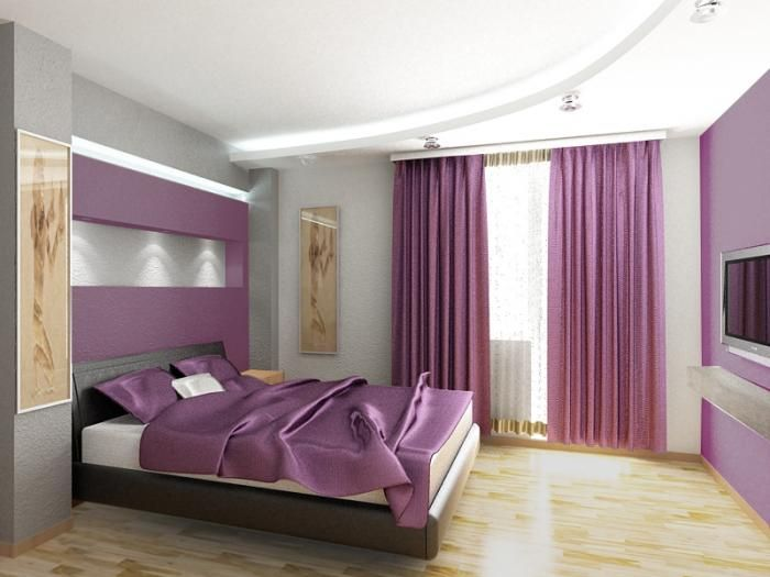 Decoración interior morado | Muebles y Decoración de Interiores: Dormitorios de Color Lila