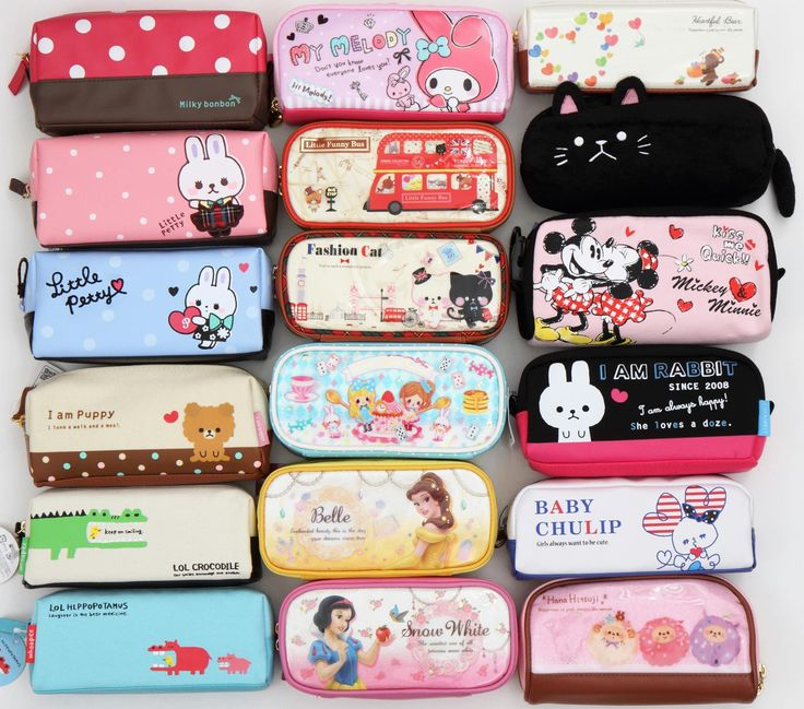 Lots of new Japanese pencil cases arrived in our shop! We have cats, bears, rabbits, crocodiles, princesses, polka dots and many more: http://www.modes4u.com/en/cute/c126_Pencil-Cases.html