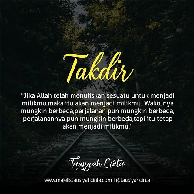 Takdir Follow Cintadakwahid Follow Cintadakwahid