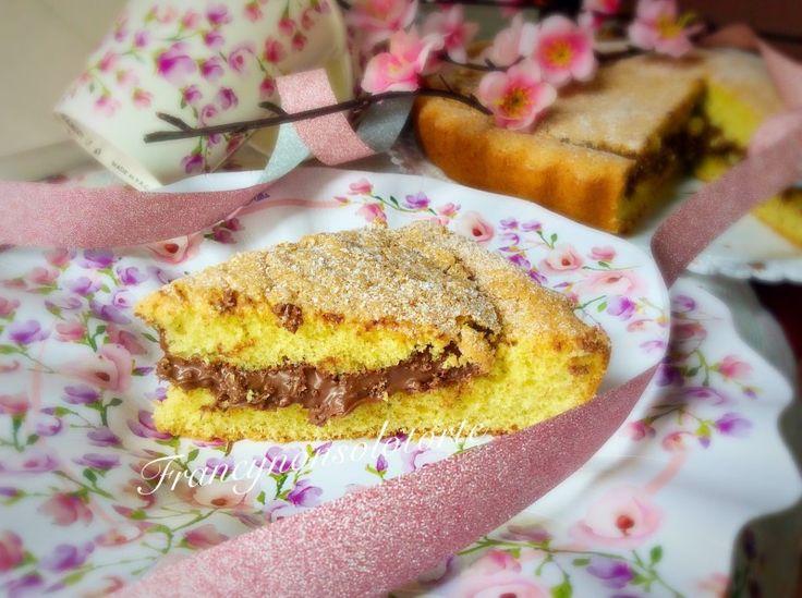 Crostata Pan di Spagna alla Nutella
