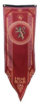 Bandera Estandarte Casa Lannister. Juego de Tronos. Torneo, 50 x 152 cm Foto 1