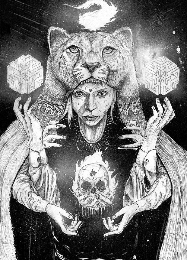 Piel de tigre en cuerpo de cordero. Una tipilla queriendo dominar sus instintos. Fieras, cazadores, hipócritas, víctimas o débiles. Fractales. Existen al menos unos cientos de miles de opciones en las que el azar ...   exto de Érika Anallely   Ilustración de Jeavi Mental