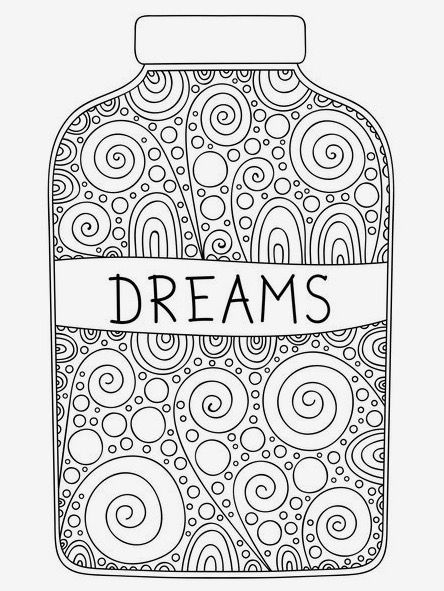 Dreams Jar Coloring Page On Book For Me App