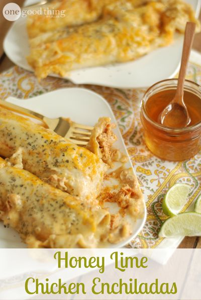 If you are looking for a real crowd-pleasing recipe...you'll want to check this out! Honey Lime Chicken Enchiladas are a nice twist on traditional chicken enchiladas and get a big thumbs up from my family!