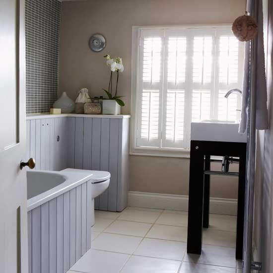 21 best office images on pinterest desks home office for Grey and beige bathroom ideas