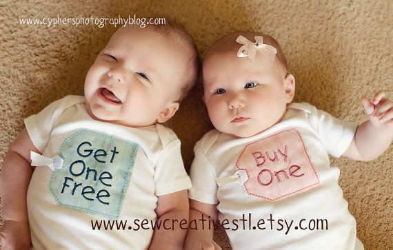 Winner!!! i think i got to get this one.THE ORIGINAL Buy One  Get One Free Twin Onesie by sewcreativestl, $32.00