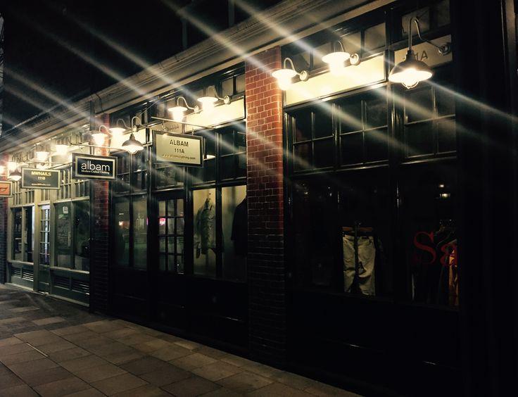 Davey exterior bracket lights spotted at Spitalfields market