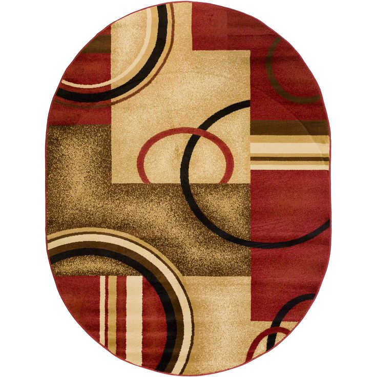 This Area Rug Is Made Of Heavy Heat Set Olefin With The Look And Feel A Handmade Piece Oval Will Add Contemporary To Any Room Its