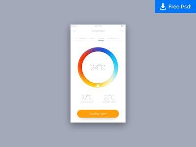Daily UI #014 - Temperature App