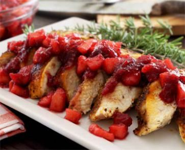 Turkey for Two with Apple-Cranberry Compote #paleo
