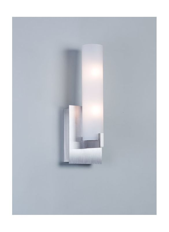 "Illuminating Experiences ELF1I Elf 2 Light 5"" Inch Wide ADA Compliant Bathroom W Satin Nickel Indoor Lighting Bathroom Fixtures Bathroom Sconce"